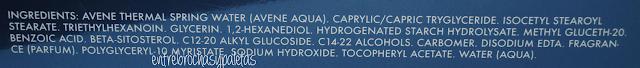 ingredientes serum hydrance intense avene