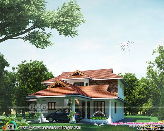 2532 square feet 4 bedroom Kerala home design
