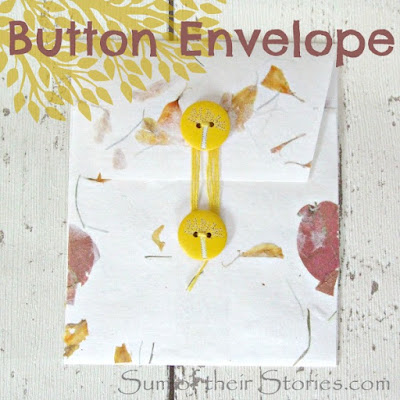 button fastened envelope