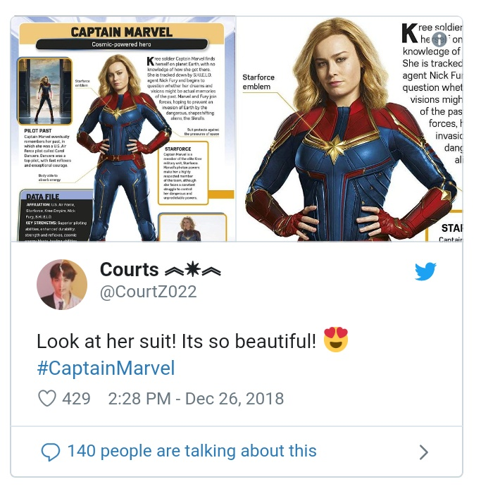 'Captain Marvel' Character Profiles Reveal New Story Details