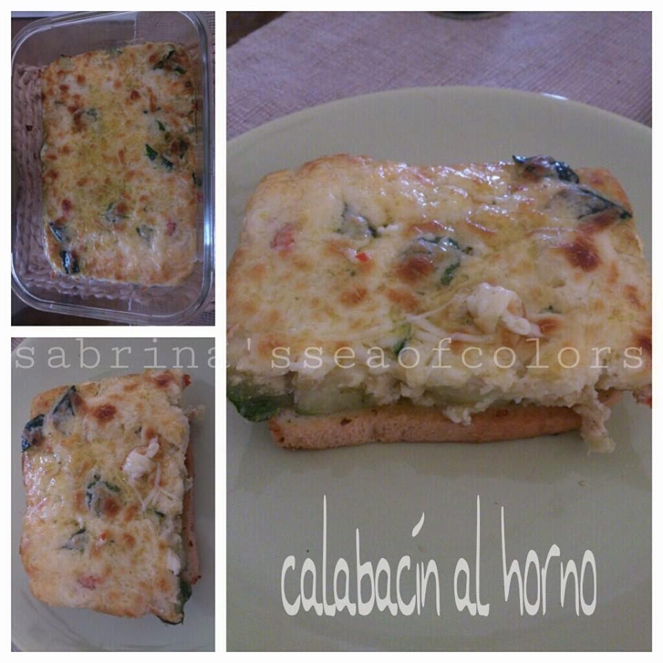 zucchini al horno con queso