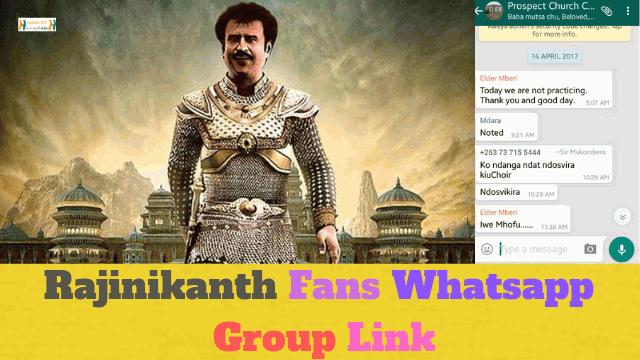 90+ Best Rajinikanth Fans Whatsapp Group Link List
