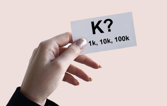 K? Apa Maksud dan Arti Huruf K di Belakang Angka?