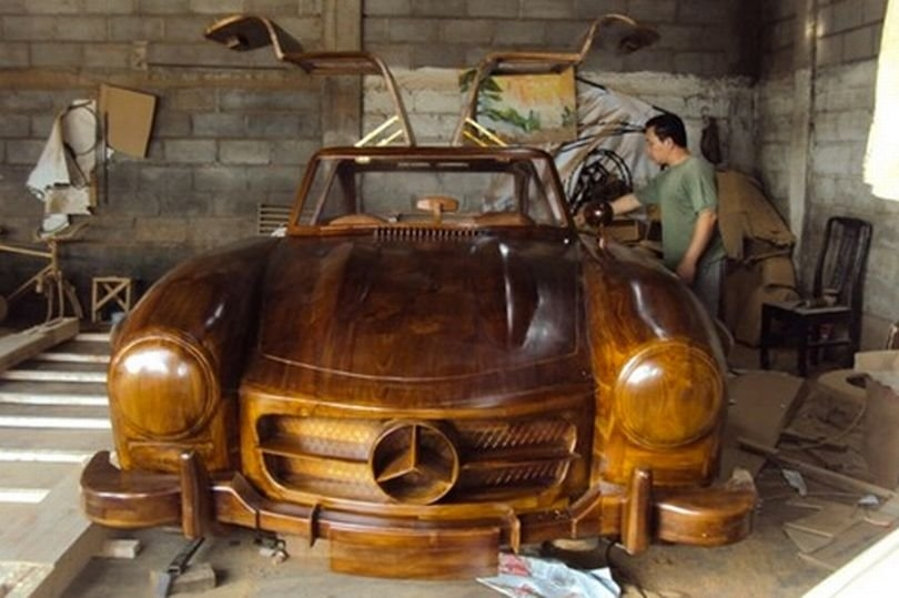 07-1955-Mercedes-Benz-300SL-Gullwing-in-Wood-www-designstack-co