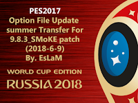 Option File PES 2017 untuk SMoKE Patch 9.8.3 update 9/6/2018