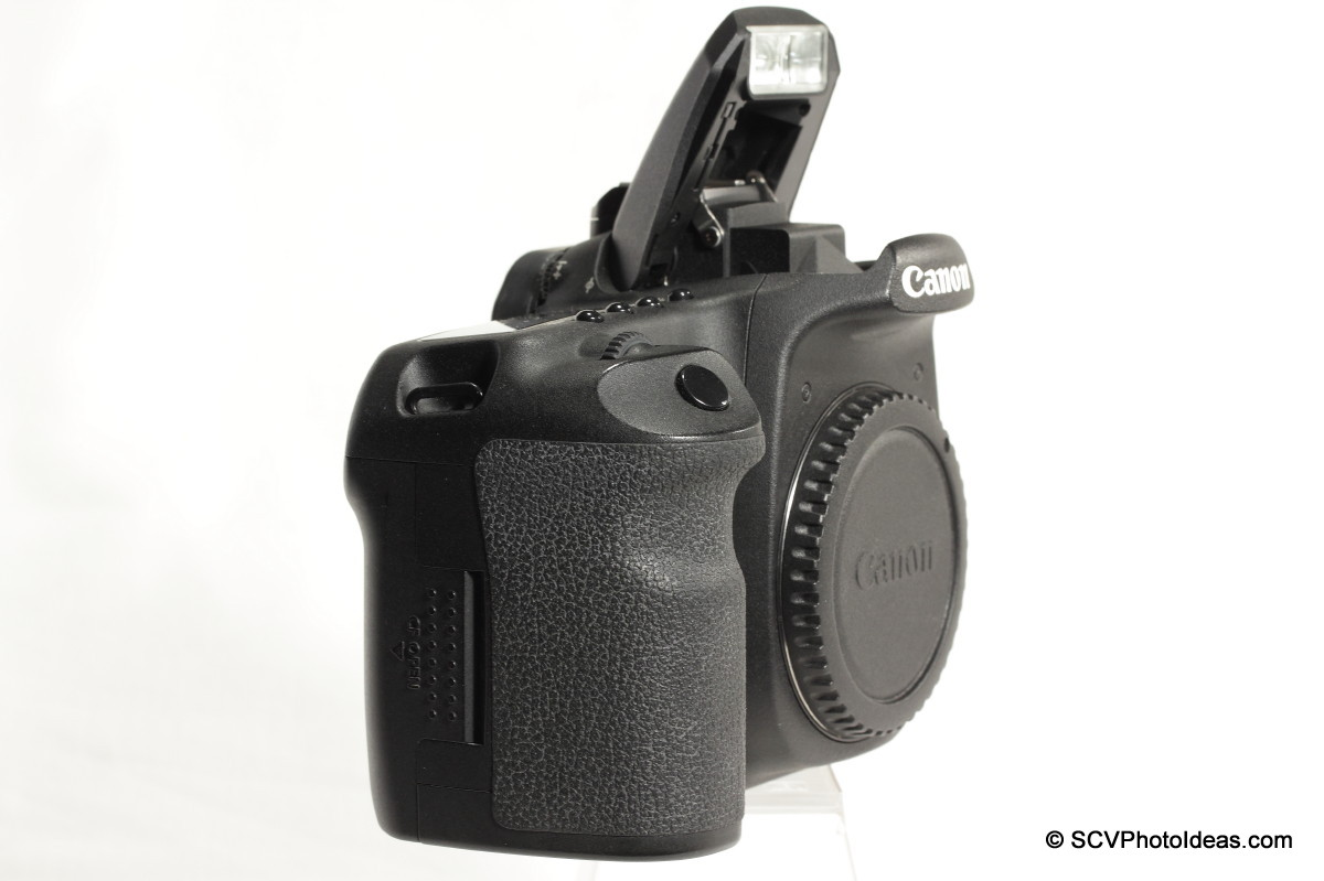 Canon EOS 50D Digital Camera on camera flash open side