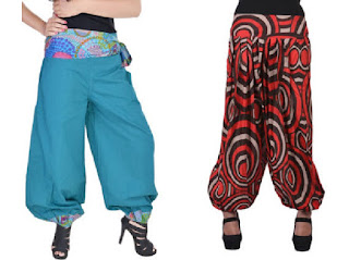 Harem pant is Light weighted loose and full style gathered at both the ankle & waist creating balloon with snug cuff around the ankles. Also known as a ṣalvar, shalwar shintiyan, chalvar, chalwar