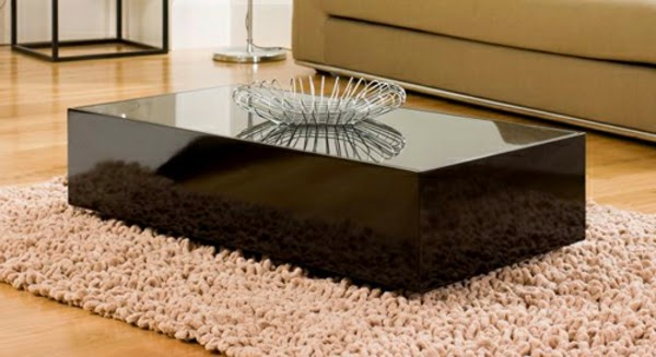 Black Glass Coffee Table For Luxury