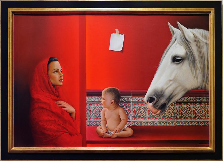Caballo, mujer y niño de JCarrero