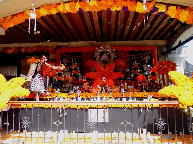 Day of the Dead decorations in Mexico