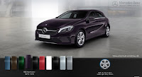 Mercedes A200 2016 màu Tím Northerm Light 592