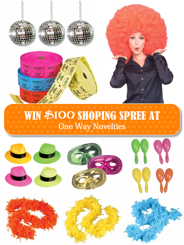 Giveaway | $100 Shopping Spree Party Supplies & Costumes