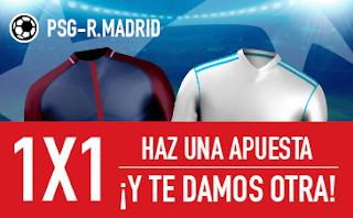 sportium promocion Champions: PSG vs Real Madrid 6 marzo