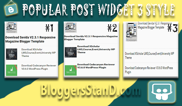 New Popular Posts Widget With 3 Style For Blogger template 2016