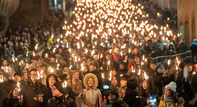 torch lit procession Edinburgh 2018