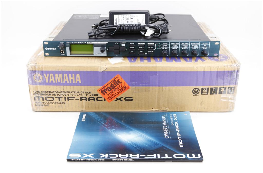 MATRIXSYNTH: Yamaha Motif Rack XS Synthesizer with Original Box