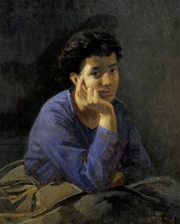 Ге Николай Николаевич «Портрет неизвестной в голубой блузе»