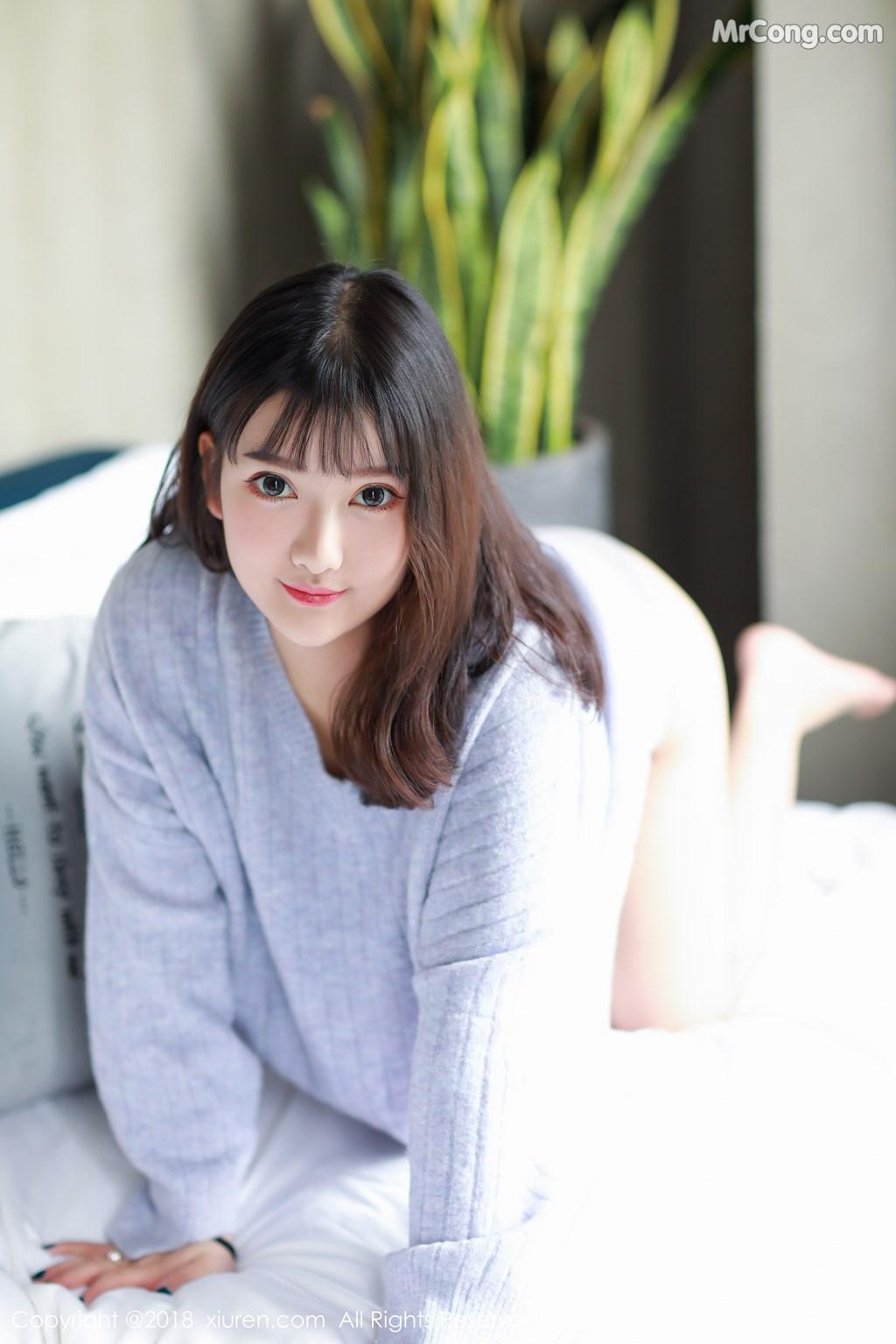 Image XIUREN-No.1274-Xiao-You-Nai-MrCong.com-001 in post XIUREN No.1274: Người mẫu Xiao You Nai (小尤奈) (42 ảnh)