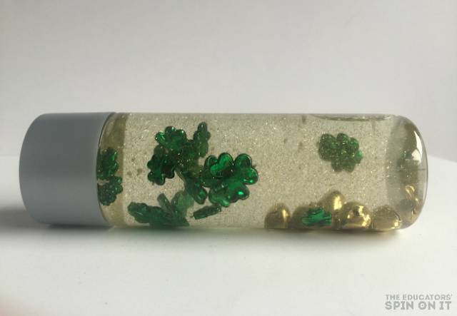 Shamrock Sensory Bottle a St. Patrick's Day STEM Activity