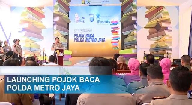 Dukung Gerakan Literasi Indonesia, Kapolri Resmikan Pojok Baca Polda Metro Jaya