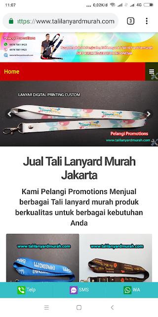 Pusat tali lanyard tempat cetak lanyard digital printing murah Jakarta
