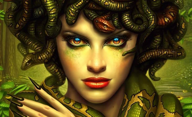 N.Kara, mitoloji, yunan mitolojisi, Yılan saçlı kadın, Gorgonolar, Bakanları taşa çeviren, Poseidon'un aşkı, Medusa'nın kafası ve Yere batan sarayı, Yere batan sarnıcı, Medusa efsanesi, Medusa, Medusa'nın çocukları,Pegasus