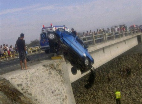 accidente en la vía a Playas