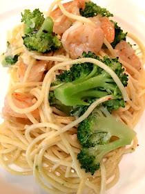 Shrimp Spaghetti made with Barilla Classic Blue Box Spaghetti
