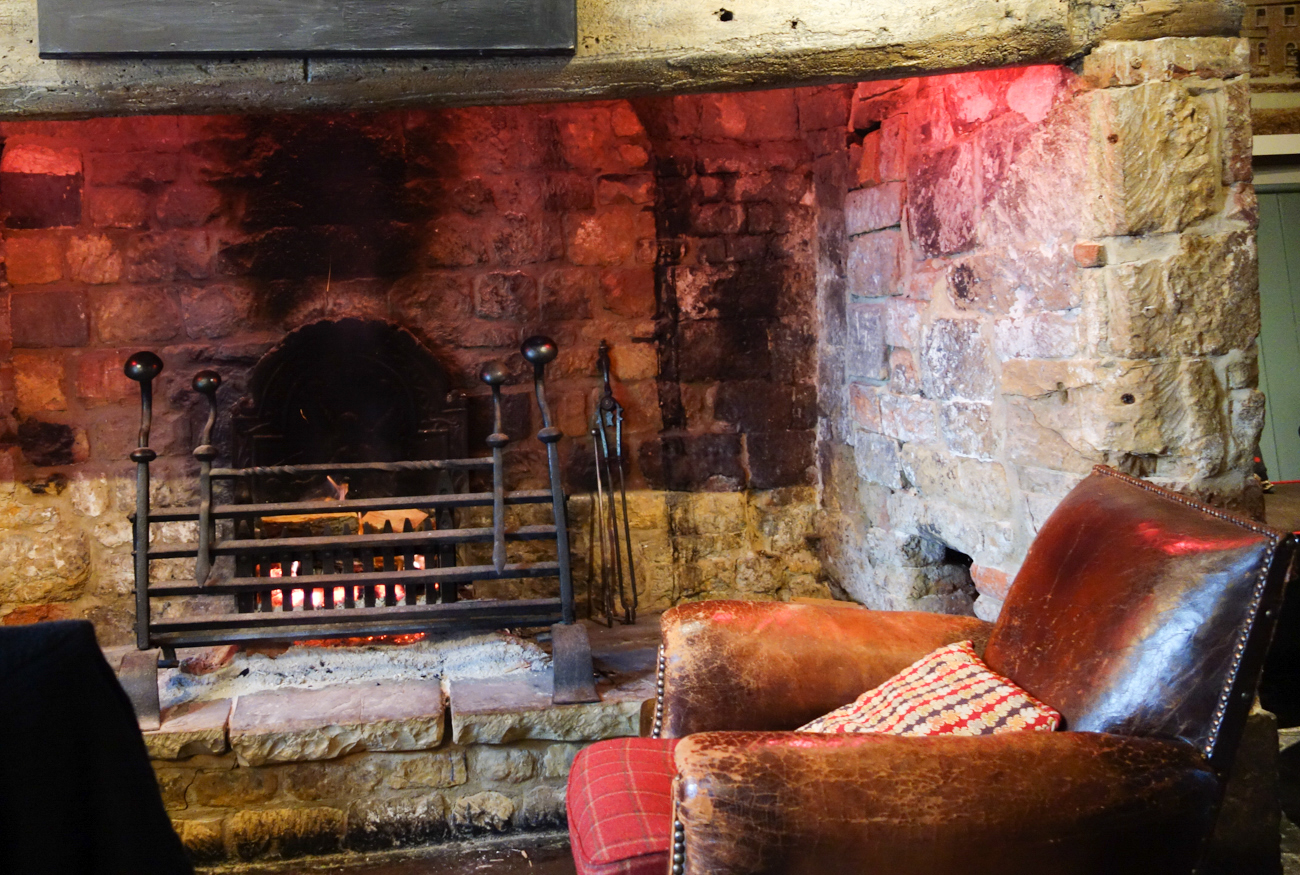 Fireplace at The Howard Arms