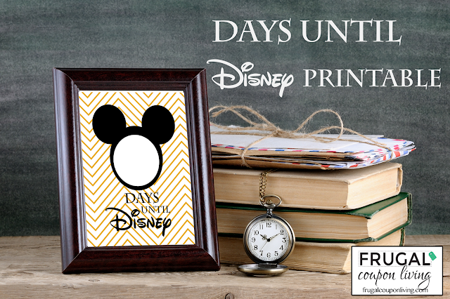 Free Disney countdown printable