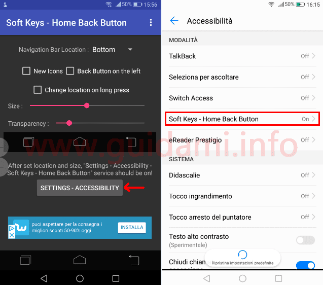 Soft Keys - Home Back Button app Android