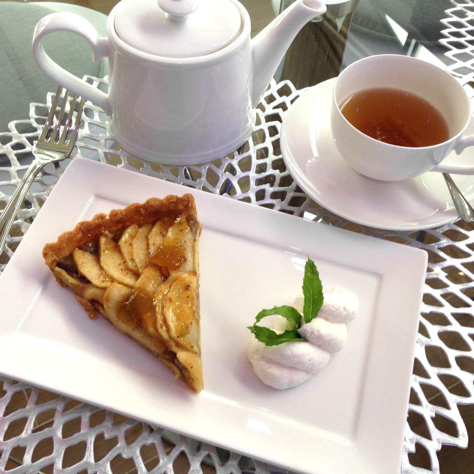 Apple Walnut Tart with Fig Glaze...