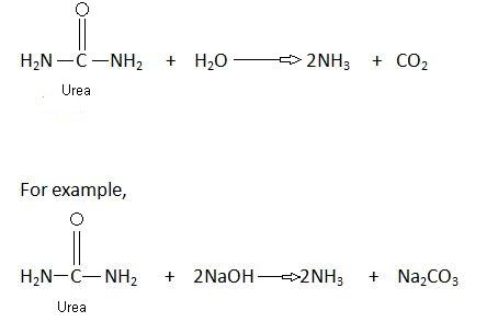 Hydrolysis properties of urea.
