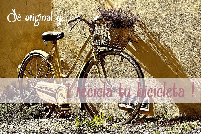 Ideas reciclar partes bicicleta