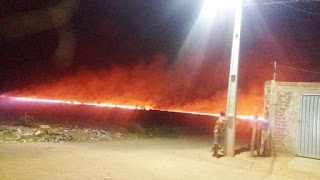 Incêndio atinge 100 hectares
