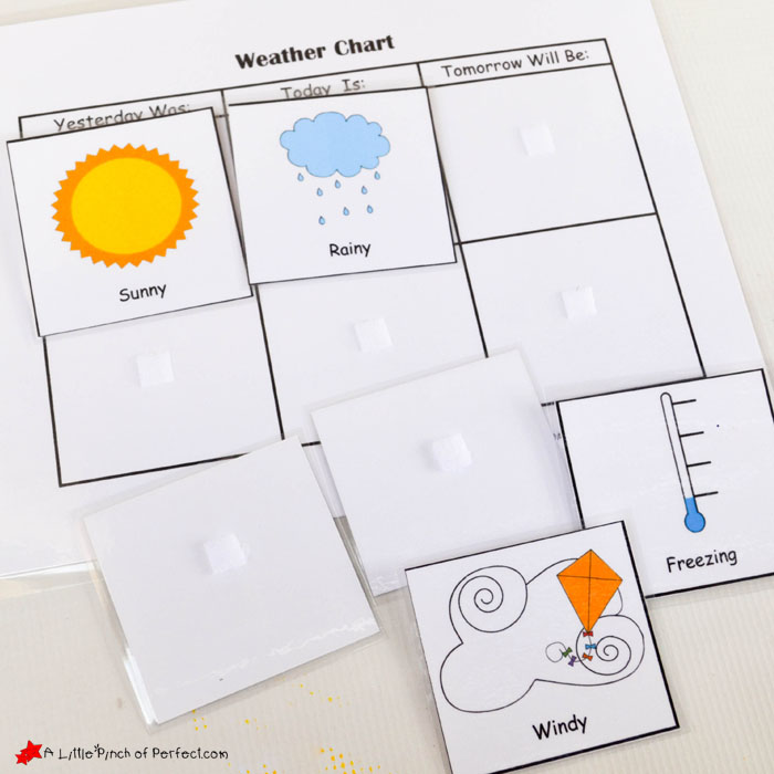 picture relating to Printable Weather Charts named Totally free Printable Climate Chart for Dwelling or Higher education -