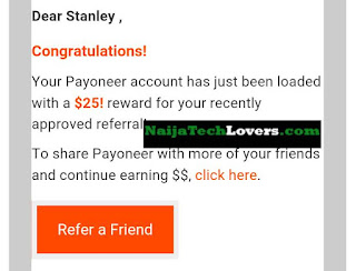Payoneer affiliate program free $25
