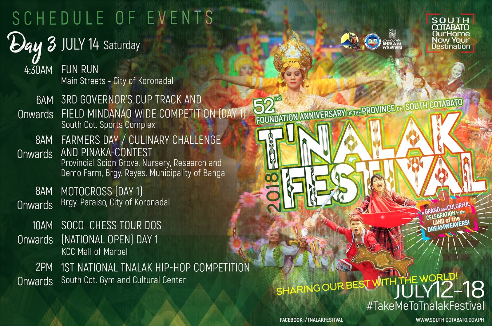 Tnalak Festival na naman! See schedule of activities here