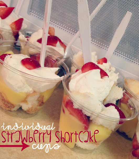 individual strawberry shortcake cups