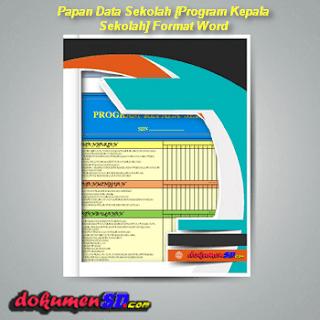 Download Papan Data Sekolah [Program Kepala Sekolah] Format Word