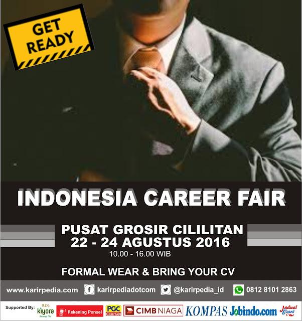 Indonesia Career Fair Pusat Grosir Cililitan Jakarta 2016