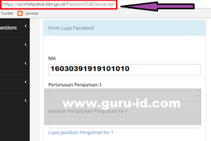 cara mengatasi lupa password sscn bkn