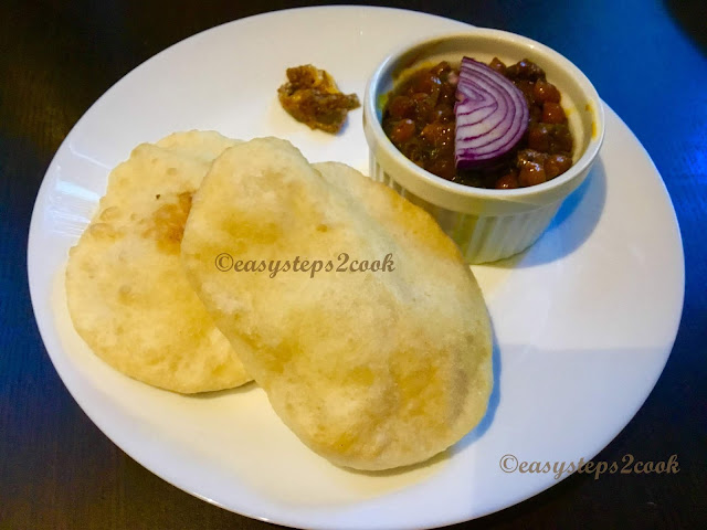 bature with chole or chana