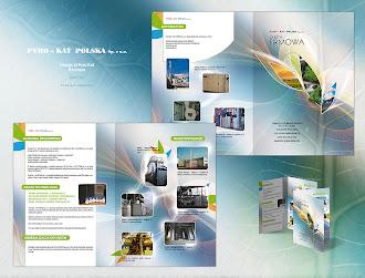Fabrika üretim makineleri konusunda hazırlanmış bir katalog örneği