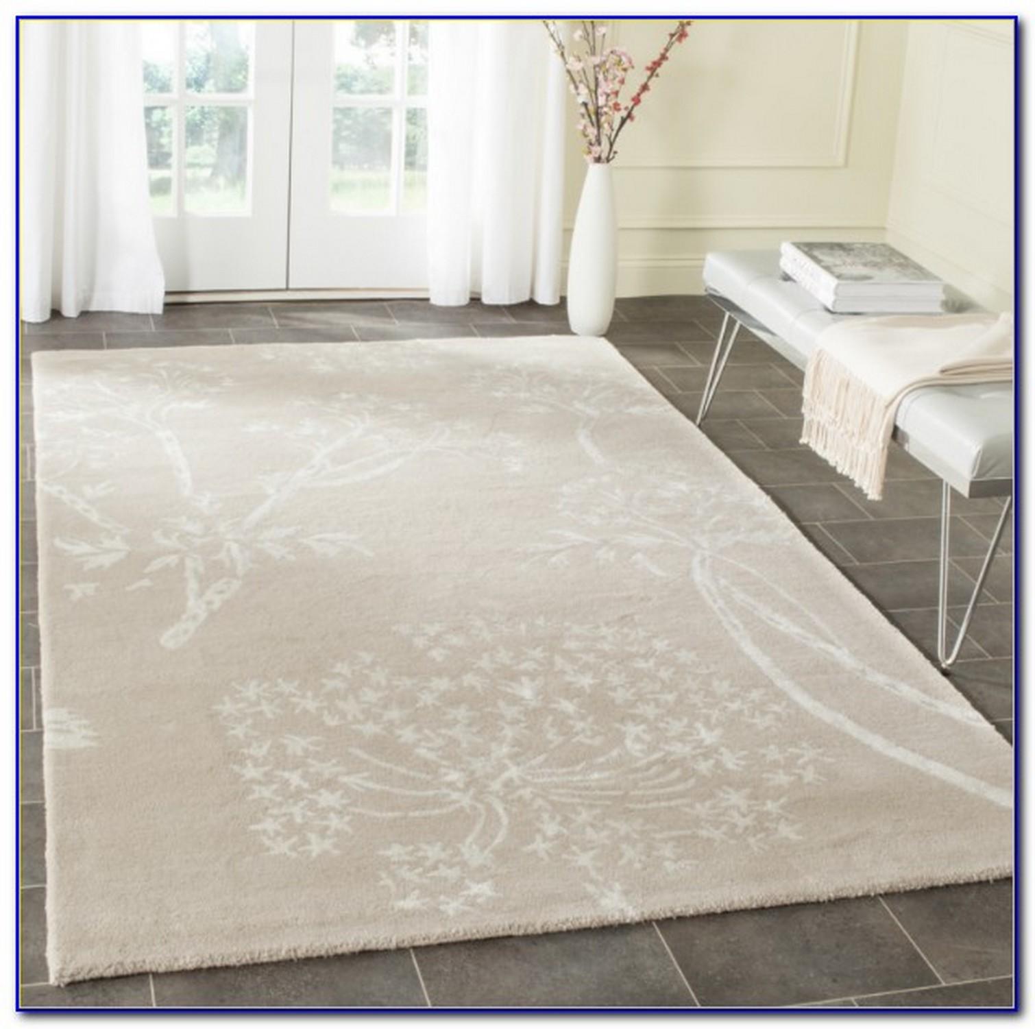ivory shag rug
