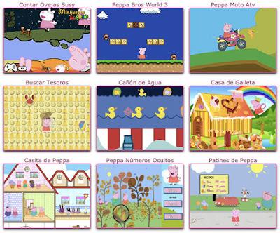 Nuevos juegos de peppa pig para niños
