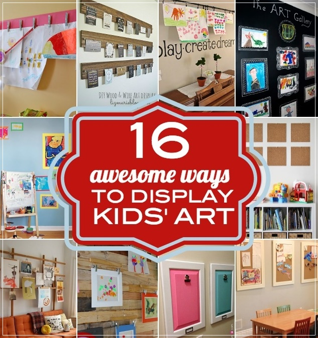 Displaying Kids Art Projects At Home