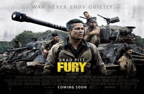 Fury 2014 banner HDMoviesFair