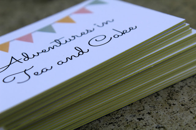 tea and cake blog cards