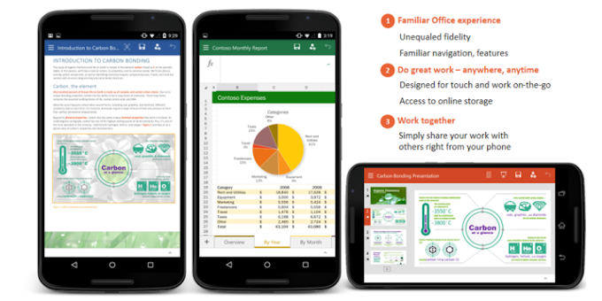 Microsoft Office preview apps launched for Android smartphones